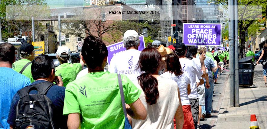 Cota staff walking the Peace of Mind Walk
