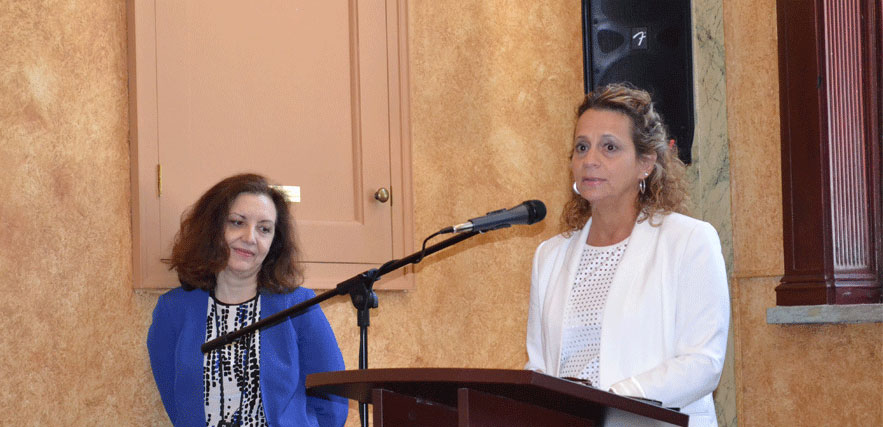 Senior Director Sylvia Starosta presents at the event