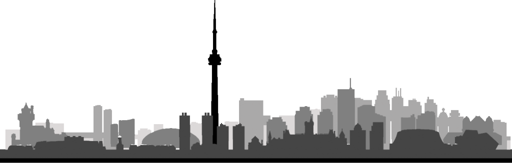 Toronto skyline graphic