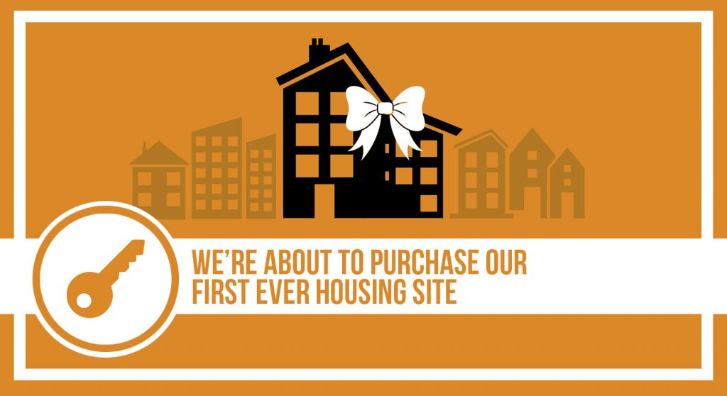 Housing graphic We're about to purchase our first ever housing site