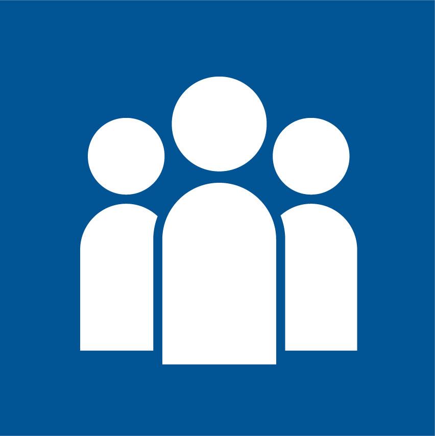 Icon image of three people representing Cota's interdisciplinary teams