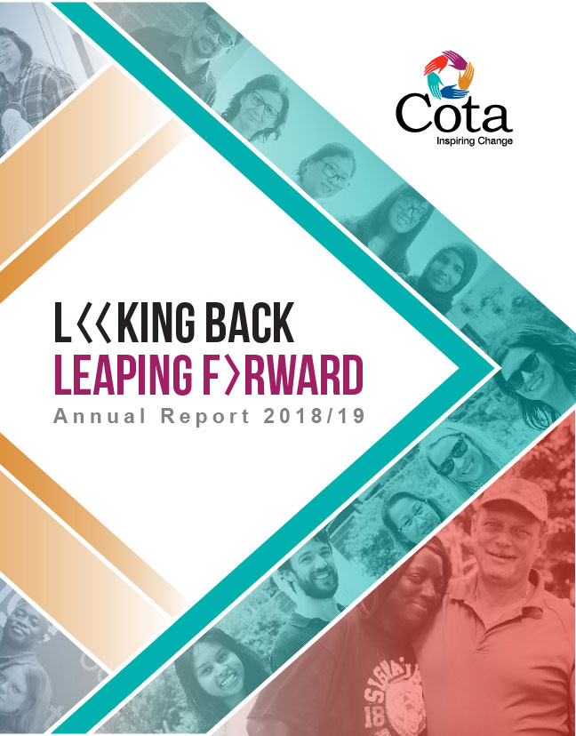 Cota Annual Report Looking Back and Leaping Forward, 2018-19