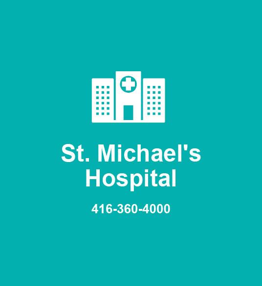 St. Michael's Hospital 416-360-4000