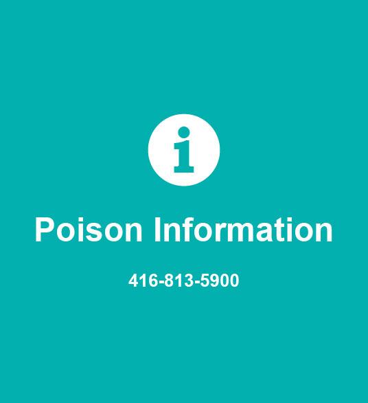 Poison Information 416-813-5900