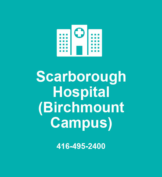 Scarborough Hospital (Birchmount Campus) 416-495-2400