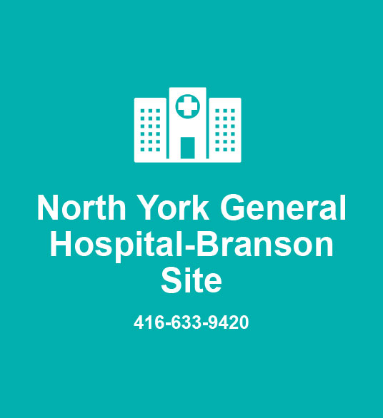 North York General Hospital-Branson Site 416-633-9420