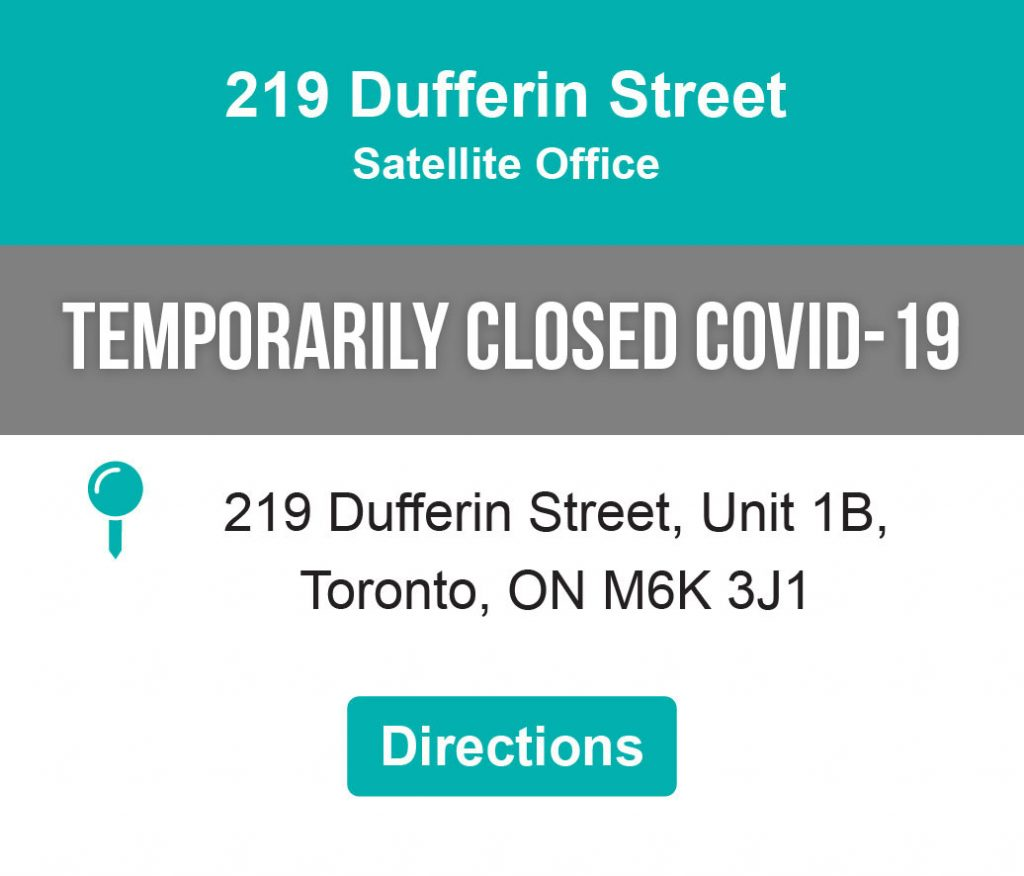 Address 219 Dufferin Street Satellite Office Location