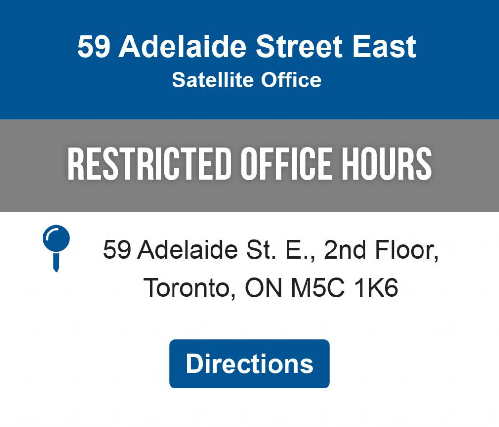 Directions link to 59 Adelaide Street East Satellite Office Location