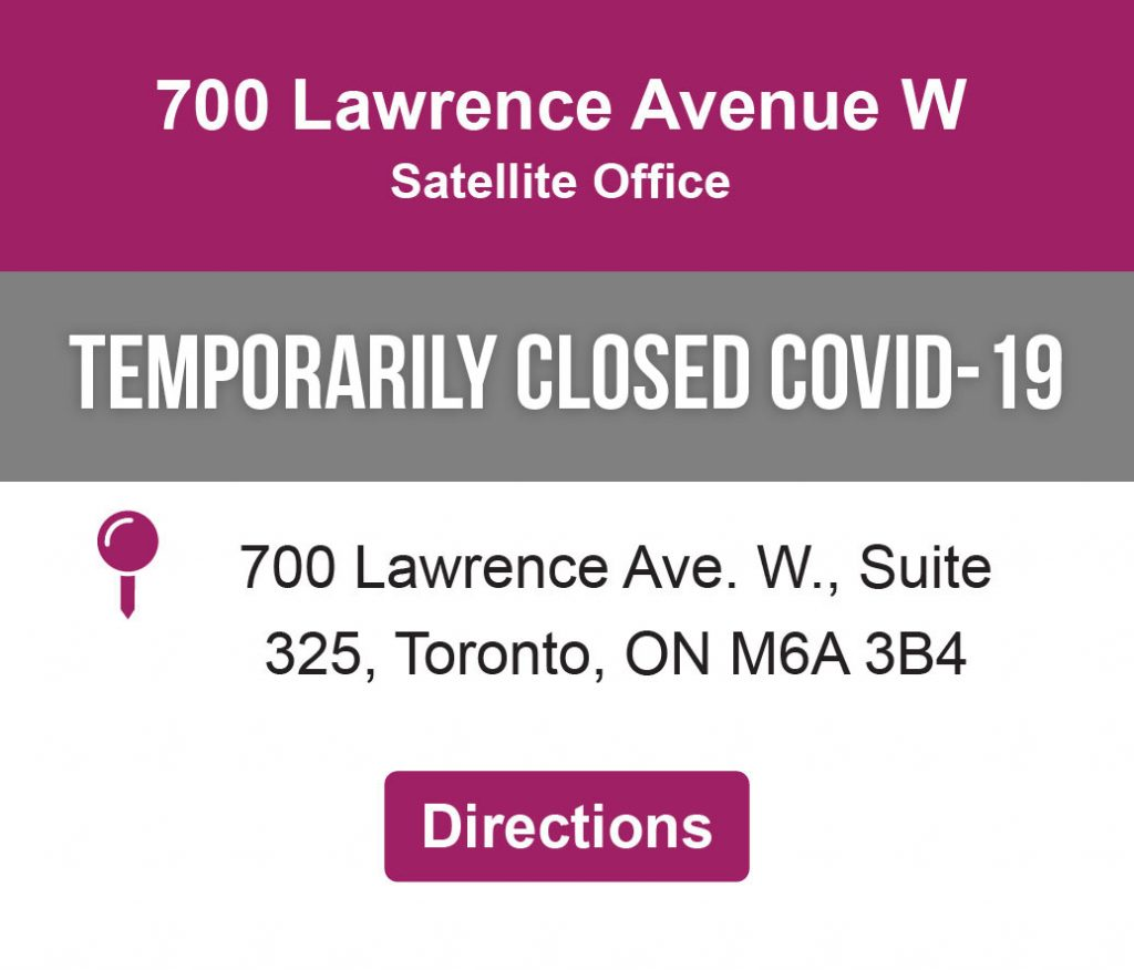 Directions link to 700 Lawrence Avenue West Satellite Office Location