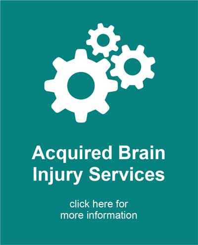 Acquired Brain Injury Services icon with gears