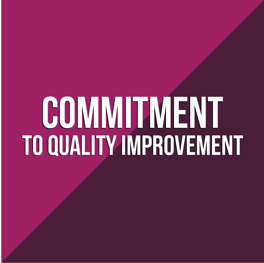 Commitment to Quality Improvement graphic square