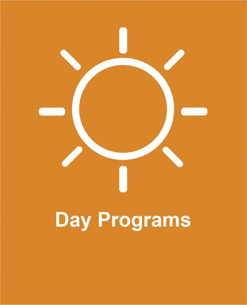 Icon of sunshine representing Cotas day program services