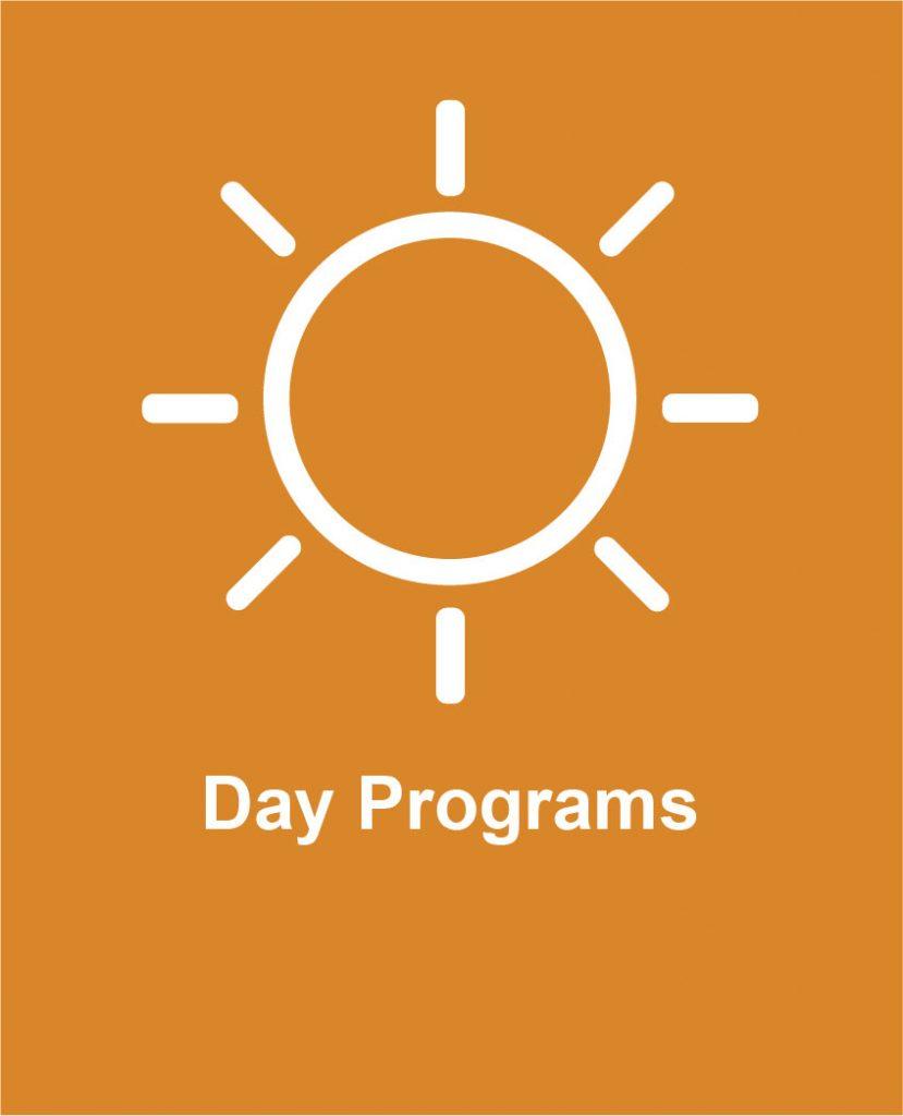 Icon of sunshine representing Cotas day program services