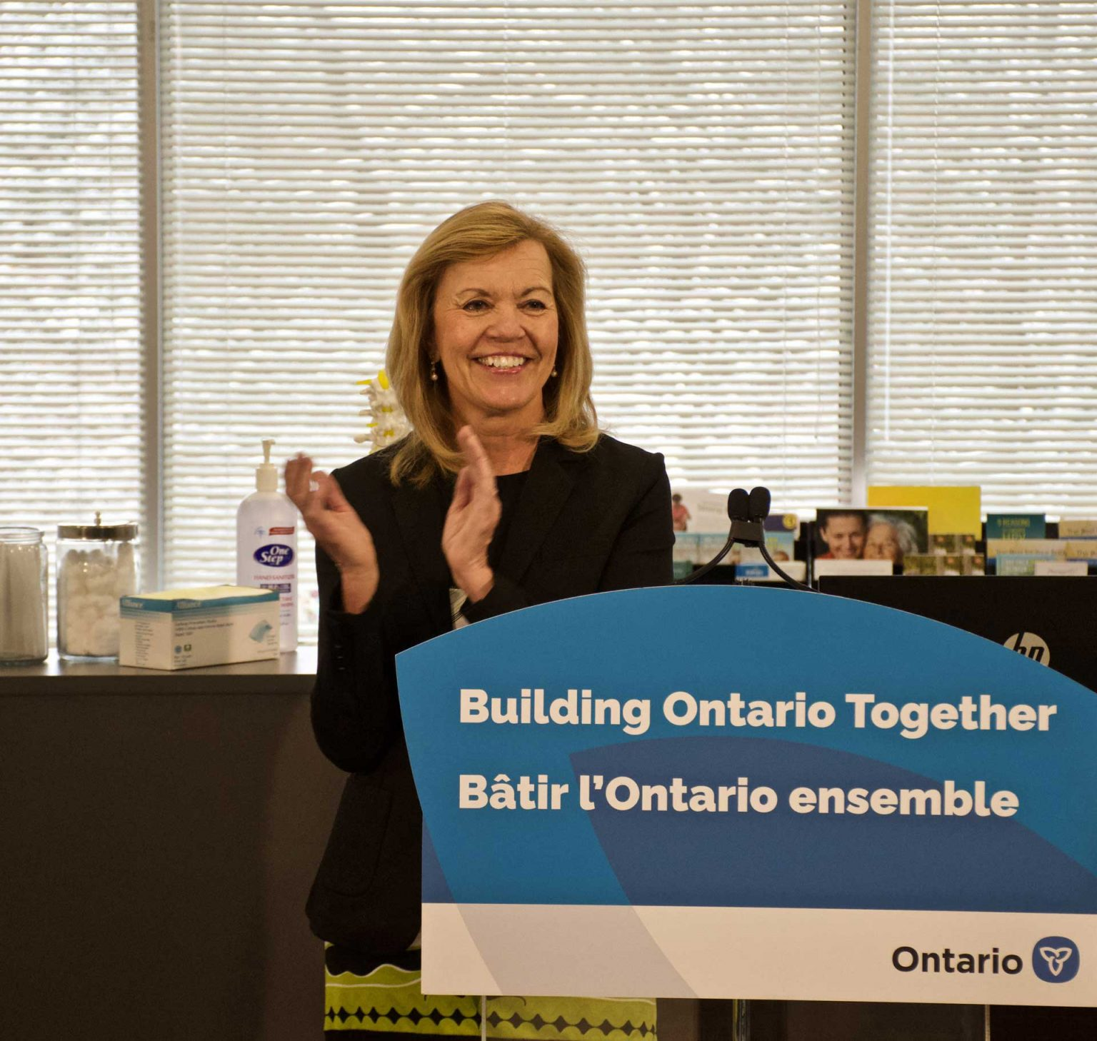 Minister of health at the OHT designation event for North York Toronto Health partners