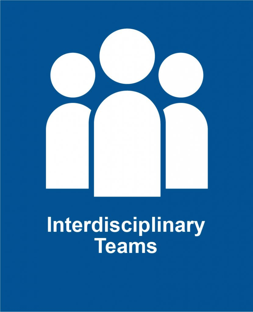 Icon image of three people representing Cota's interdisciplinary teams