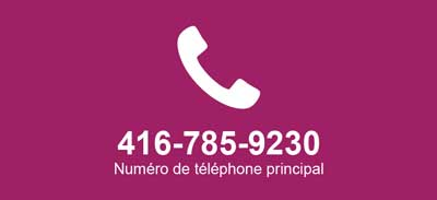 Phone icon with Cotas main contact number 416-785-9230