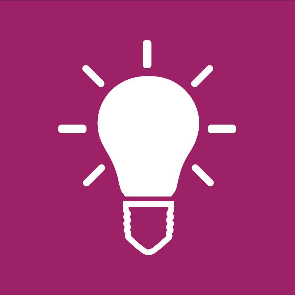 Mental Health Services Icon light bulb
