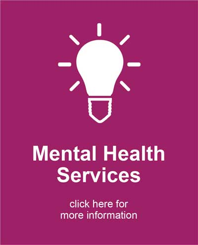 Mental Health Services icon with light bulb