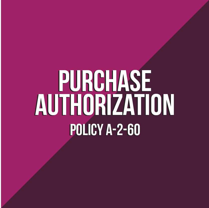 Button that reads Purchase Authorization Policy A-2-60