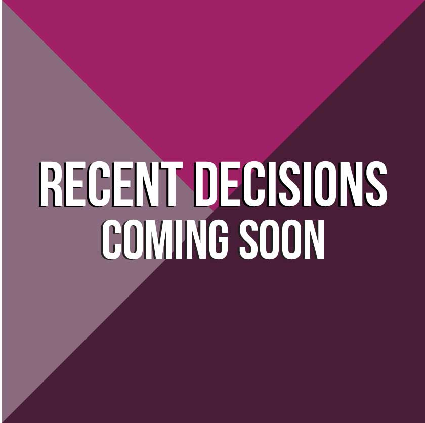 Recent Decisions coming soon graphic