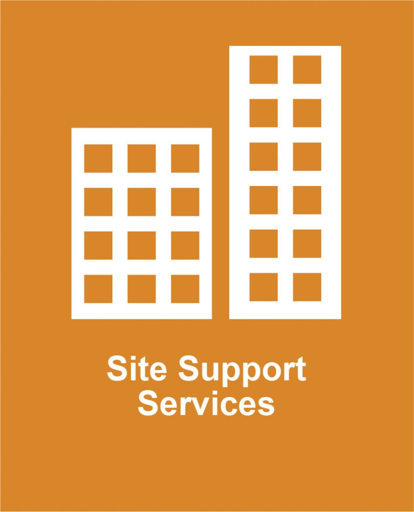 Icon image of two buildings representing Cota's site support programs