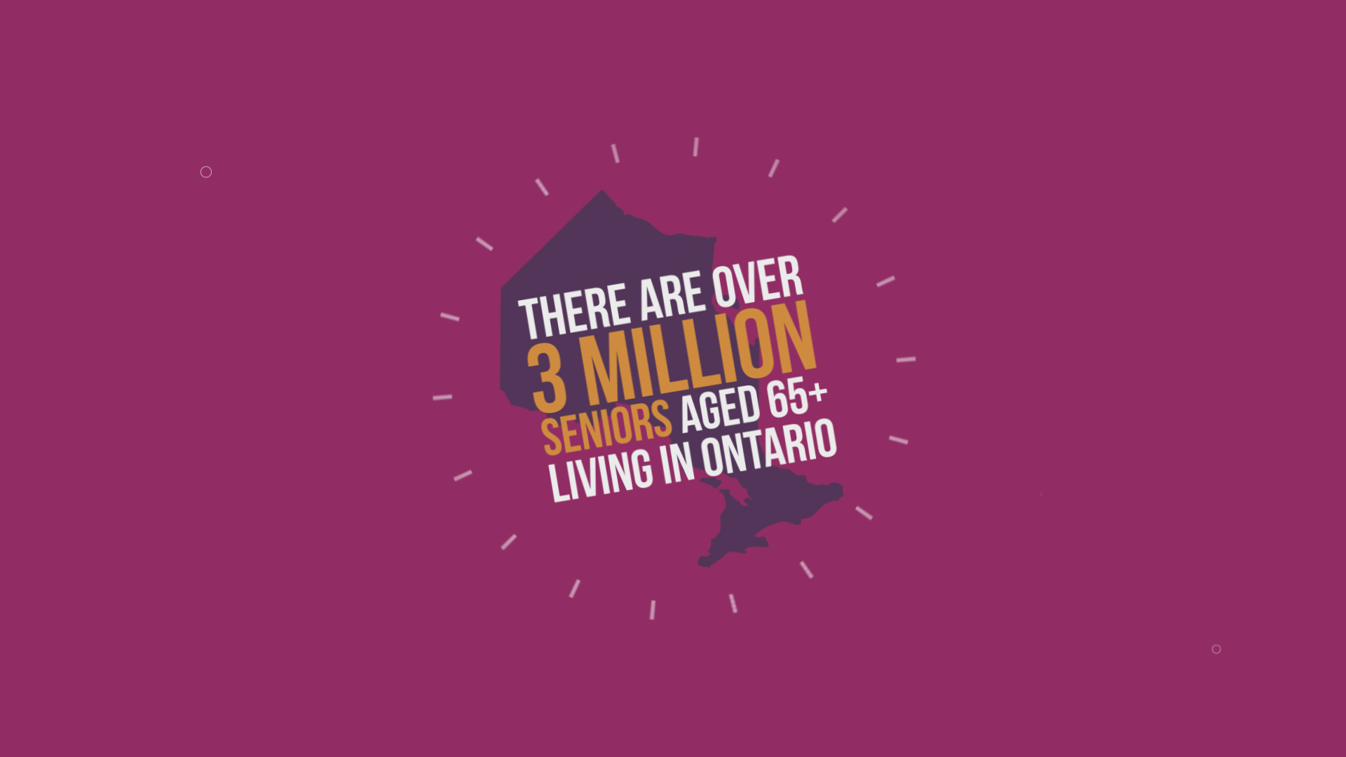 there are over 30 million seniors living in Ontario right now
