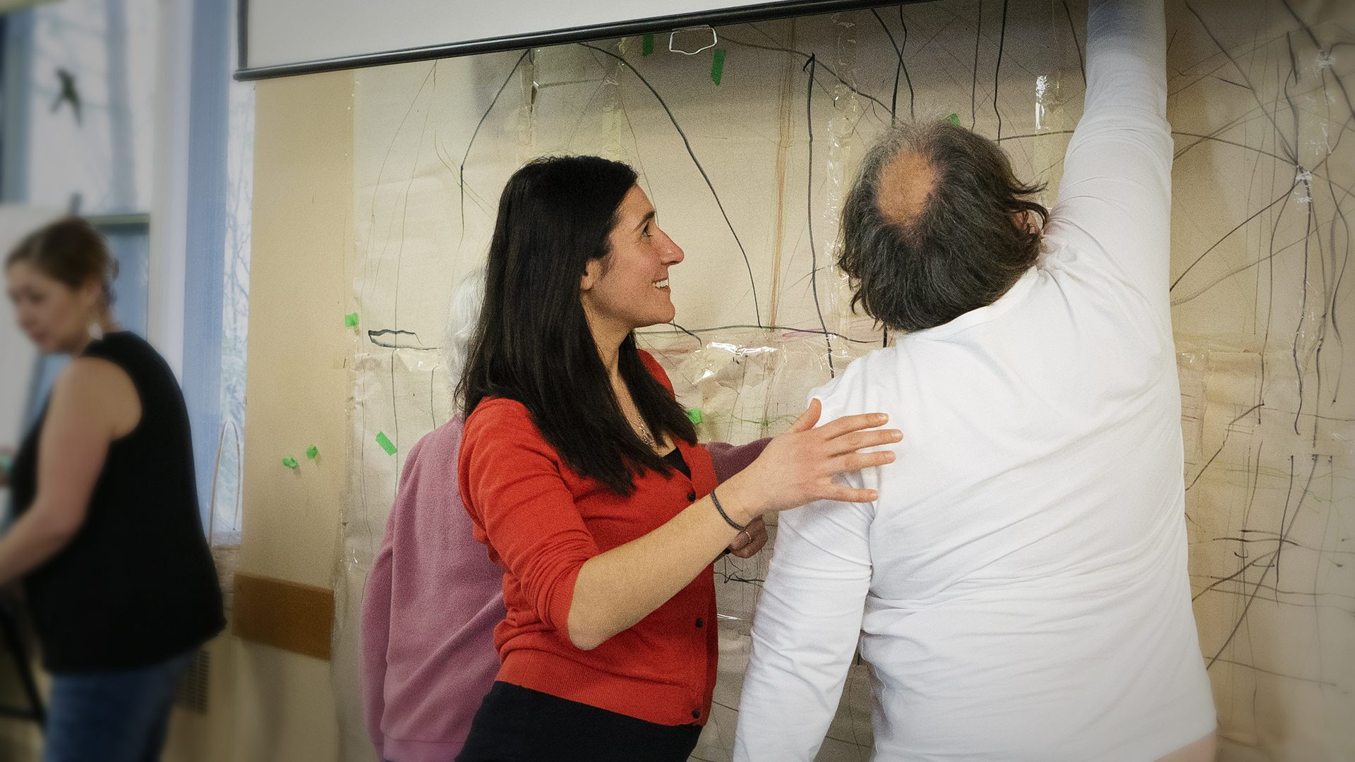Physiotherapists from Providence working with the program participants