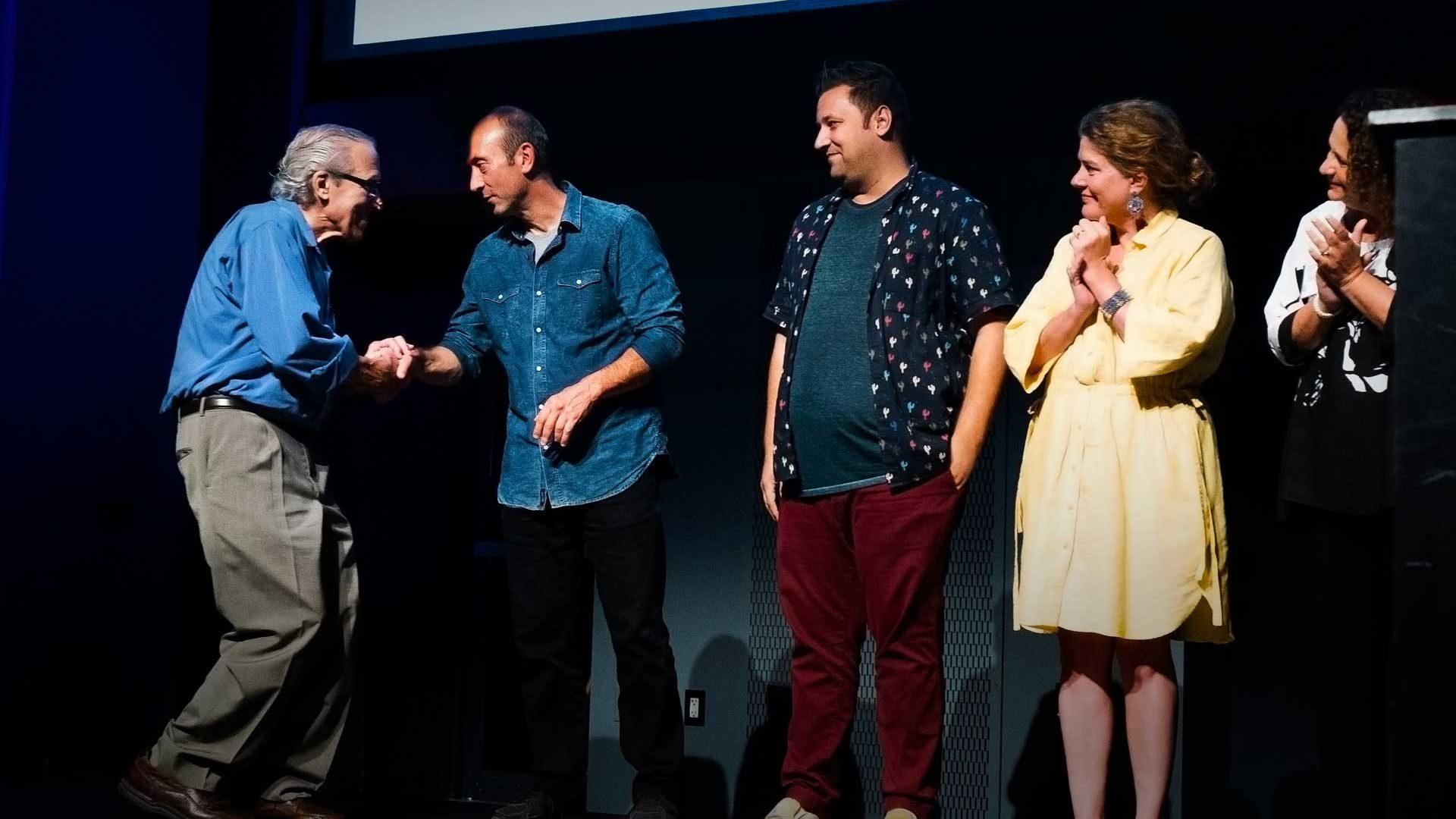 Mark Shapiro accepting award at the inspiring change awards