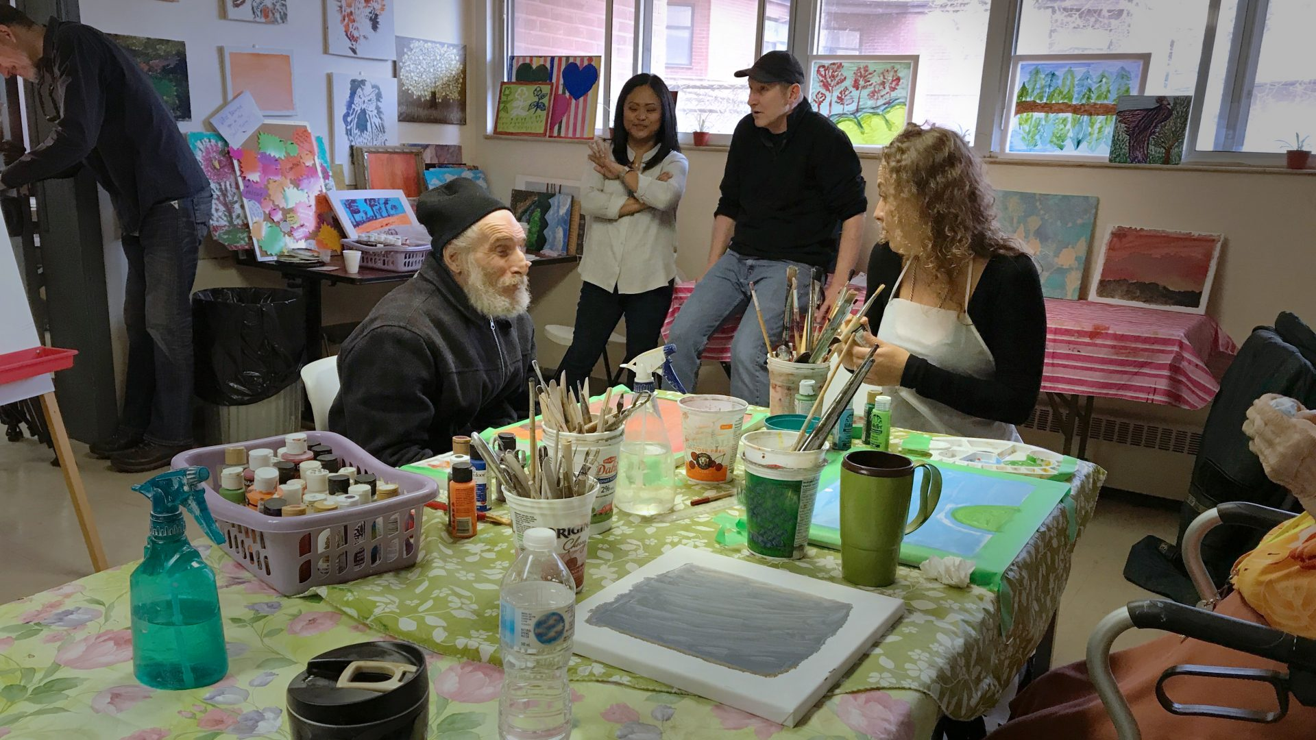 CBC OUR TORONTO Marivel visitng 220 Oak Street art studio to film segment