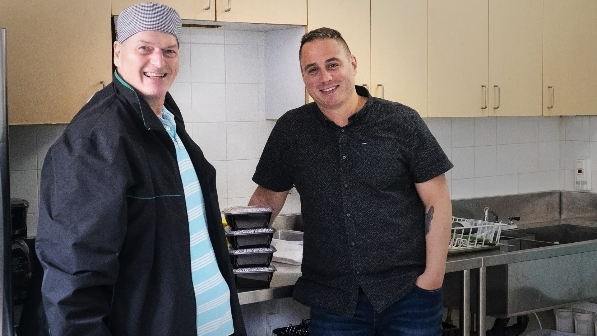 Chef Al and Manager Ryan, New Catering Service at Cota's Safe Beds location